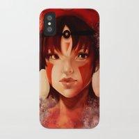 princess mononoke iPhone & iPod Cases featuring Princess Mononoke  by Peach Momoko