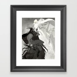 Krampus and Perchta Framed Art Print