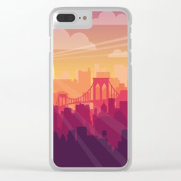 Brooklyn Sunset Clear iPhone Case