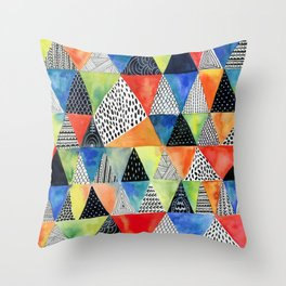 Doodled Geometry Throw Pillow