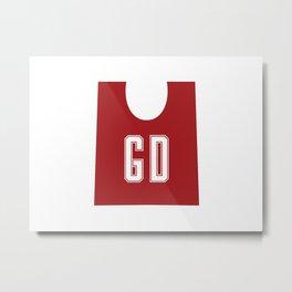 Netball GD Metal Print