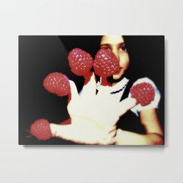 Raspberry fingers Metal Print