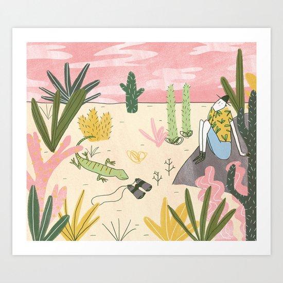DESERT EXPLORER Art Print