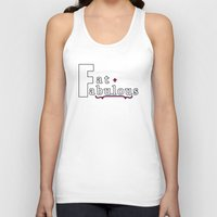 fat Tank Tops featuring Fat + Fabulous by Jessica Slater Design & Illustration