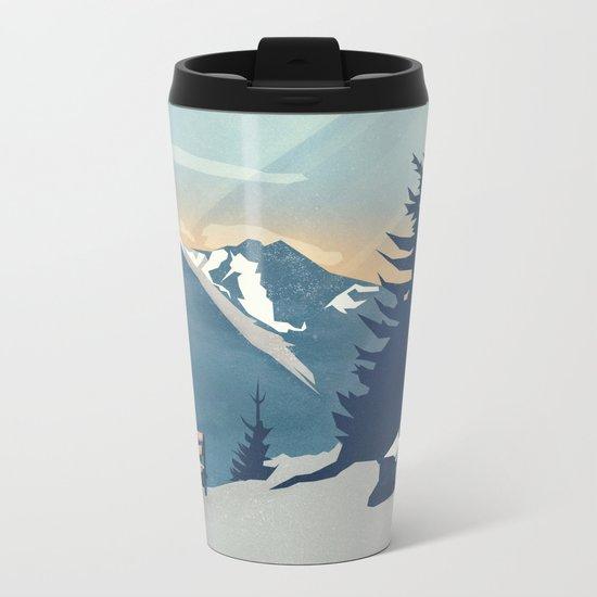 Mountain Sunrise (Pause II) Metal Travel Mug