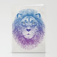 kitty Stationery Cards featuring Face of a Lion by Rachel Caldwell