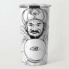 Fortune Teller Crystal Ball Drawing Travel Mug
