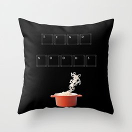 Send Noods Throw Pillow