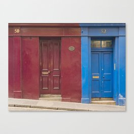 Red or blue ?  Greyfriars Edinburgh Scotland city Canvas Print