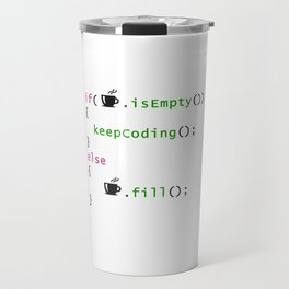 Coffee - coding syntax Travel Mug