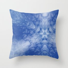 Pattern of clouds 01 Throw Pillow