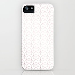 Simply Cubes in Rose Gold Sunset iPhone Case