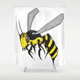 Yellow Jacket Shower Curtain