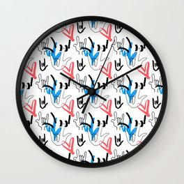 I Love You ILY Wall Clock