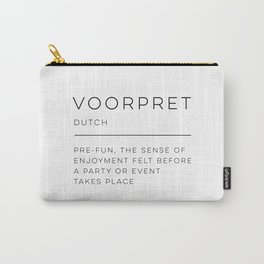 Voorpret Definition Carry-All Pouch
