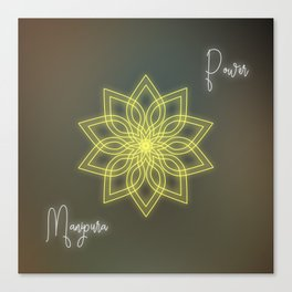 Solar plexus chakra balancing mandala Canvas Print