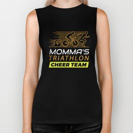 Mommas Triathlon Supporters Family Cheer  Biker Tank