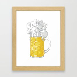 Ice Cold Bee(a)rs Framed Art Print
