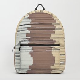 Shredded Stripes Abstract Backpack
