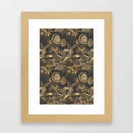 golden birds in the paisley forrest Framed Art Print