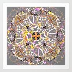 Mandala Gray Art Print