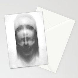 double exposure portrait Stationery Cards