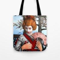 geisha Tote Bags featuring Geisha by Design Windmill