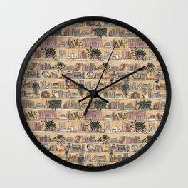 Library Print Wall Clock