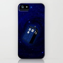 Flying Tardis Starry Night iPhone Case