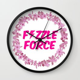 Fizzle Force Wall Clock