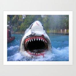 Shark Attack III! Art Print