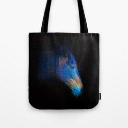 His Quiet Place II - Black Thoroughbred Percheron Tote Bag