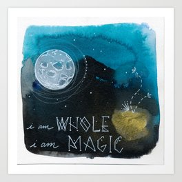 Whole Magic Moon Art Print