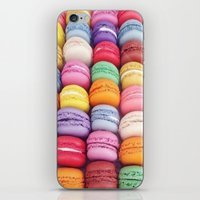 macarons iPhone & iPod Skins featuring Macarons by Sankakkei SS