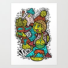 Fish and Chips Art Print