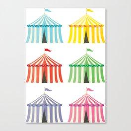 colourful circus tents Canvas Print