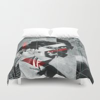 pablo picasso Duvet Covers featuring Pablo 1904 v2 by Marko Köppe
