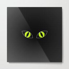 Cat Eyes - Halloween Illustration Metal Print