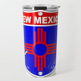 New Mexico Flag Icons As Interstate Sign Travel Mug