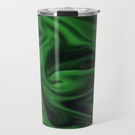 Black and green marble pattern Travel Mug