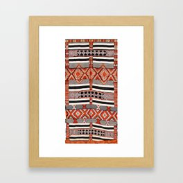 Ait Ouaouzguite South Morocco North African Rug Print Framed Art Print