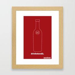 mignone: drinketenda Framed Art Print