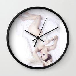 White sheets Wall Clock