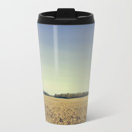 Lonely Field in Blue Travel Mug