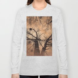 Winter Trees At Down Long Sleeve T-shirt