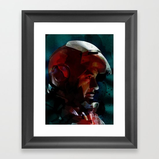The Knight in the Shining Armour...  Framed Art Print