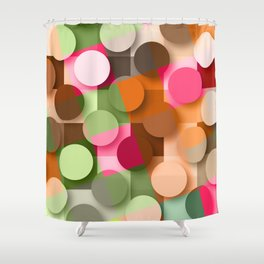 dots & squares Shower Curtain
