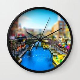 Riverwalk Canal by Monique Ortman Wall Clock