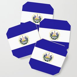 El Salvador flag emblem Coaster