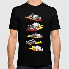 Classic Race Cars Mens Fitted Tee LARGE Black